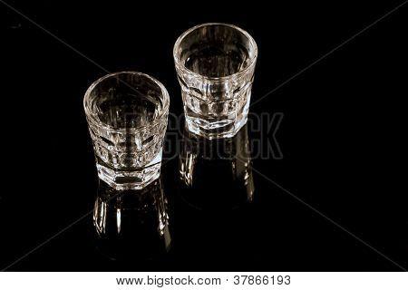 Shot Glasses On Black