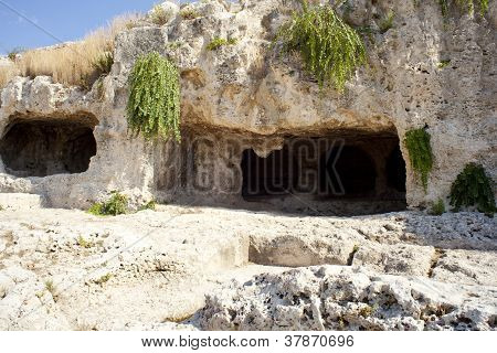 Cave, Neapolis In Syracuse