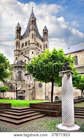 Great Saint Martin Church  In Cologne