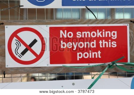No Smoking Health And Safety Sign