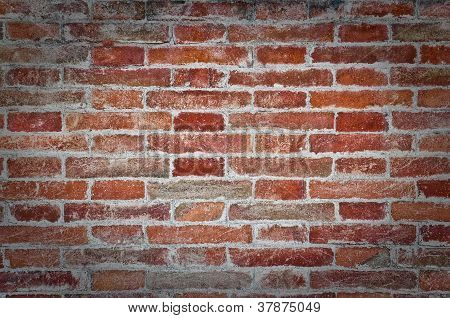 Orange Old Brick Textured Wall