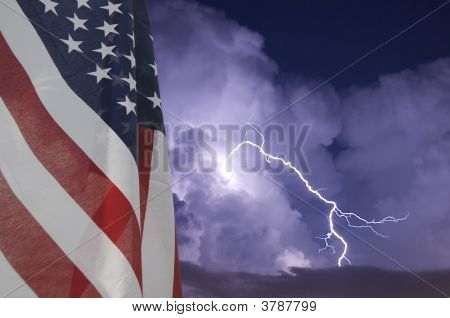 Flag And Storm
