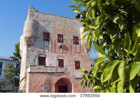 Markellos tower at Aegina, Greece