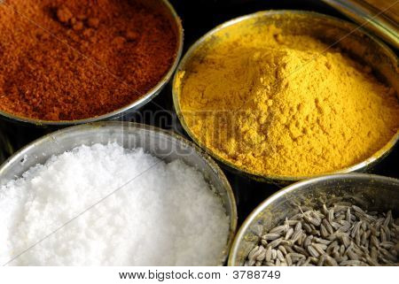 Masala Assorted Condiments And Spices Box