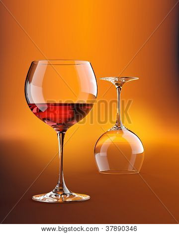 Two wineglasses