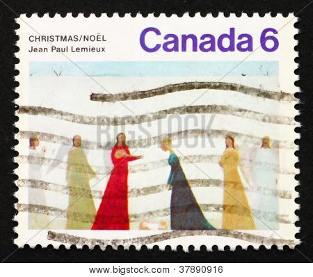 Postage stamp Canada 1974 Nativity by Jean PaulLemieux