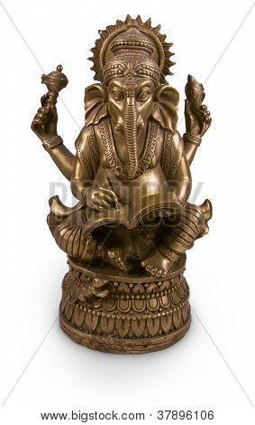 Ganesha God Metal Statuette