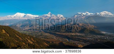 Himalayan mountains view