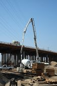 Pouring Concrete for New Bridge