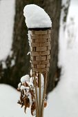 Torch With Snow Flame