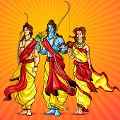 stock photo of sita  - vector illustration of Lord Rama - JPG
