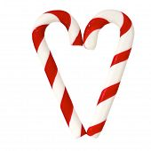 Christmas Sugar Candy Cones Forming A Heart