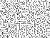 Entangled Monochrome Vector Background