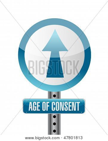 Sign With An Under Age Concept