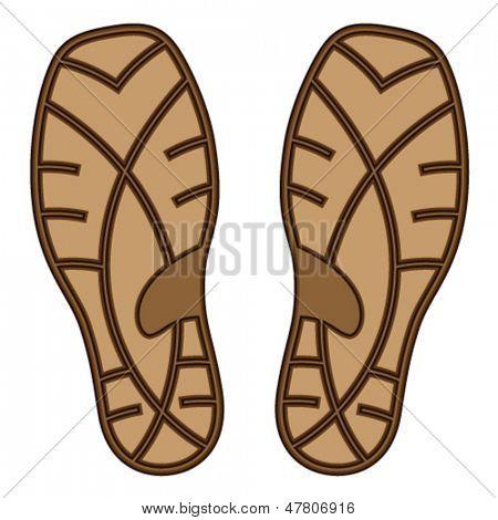 vector brown rubber shoe sole