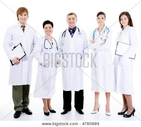 Doctors Standing Together In Row