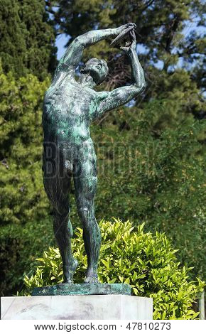Sculpture Of The Discus Thrower, Athens