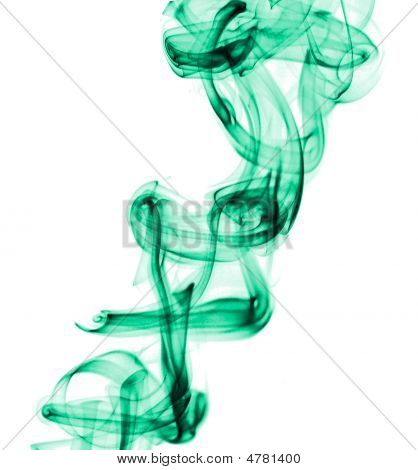 Abstract Green Dense Smoke