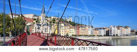 Panoramic View Of Lyon City