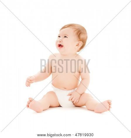 bright picture of crying baby with erupting teeth