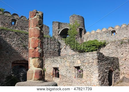 Medieval castle Chojnik in Poland