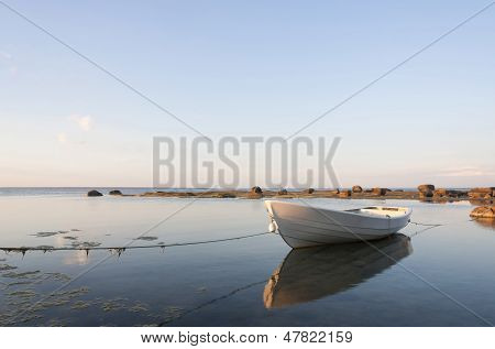 White Boat In Water