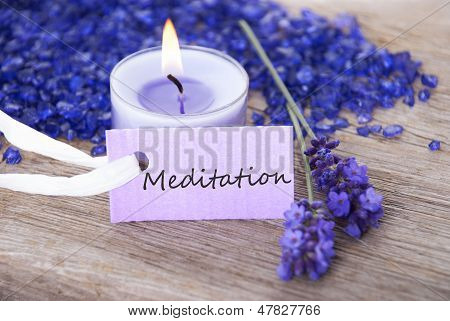Label With Meditation On It