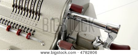 Details Of An Old Adding Machine