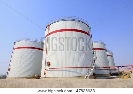 Storage Tanks In A Chemical Plant