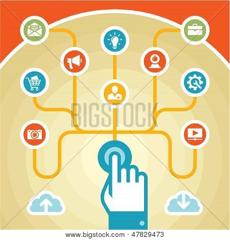 Infographic Concept - Touchpad - Icons Set