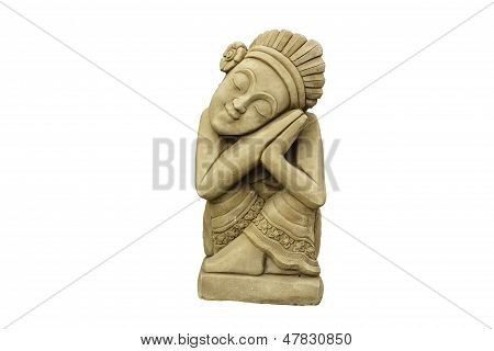 Estátuas de índios.
