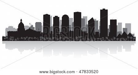 Edmonton Canada City Skyline Vector Silhouette