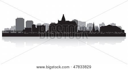 Saskatoon Canada City Skyline Vector silueta
