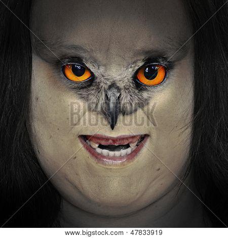 Scary zombie portrait. Halloween theme.