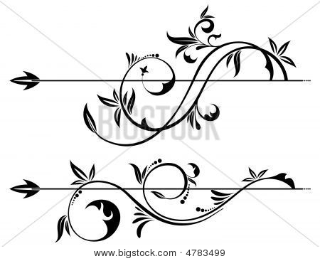 Floral Scroll Element