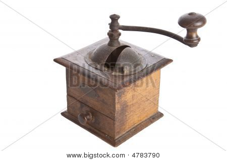 Old Manual Coffee Grinder Machine Wooden Made -3
