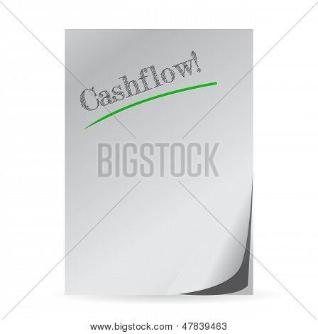 Word Cashflow Written On A White Paper