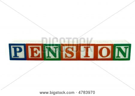 Wooden Alphabet Blocks Spelling Pension