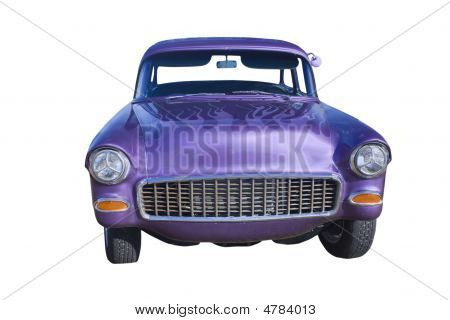 Purple Hotrod Sedan Front
