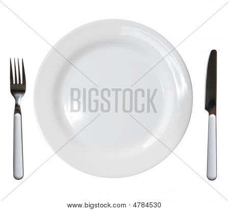 Plate Fork And Knife