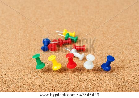 Group Of Thumbtacks