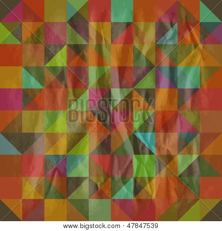 Seamless retro pattern with triangles. Eps10