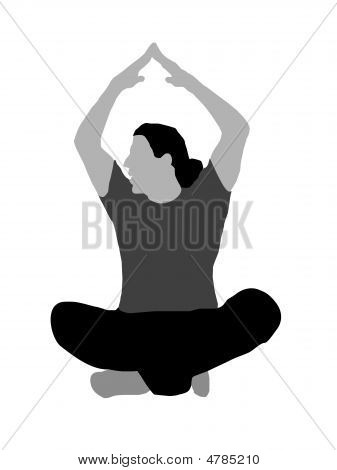 Male Mediating With Hands Raised