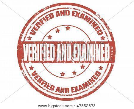 Verified And Examined
