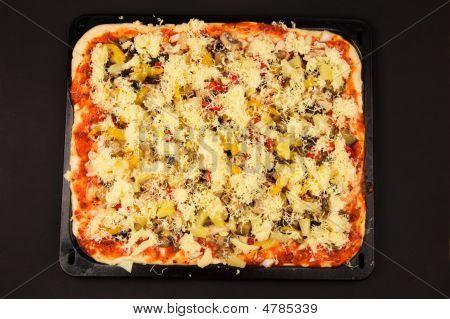 Fresh Pizza Before Baking