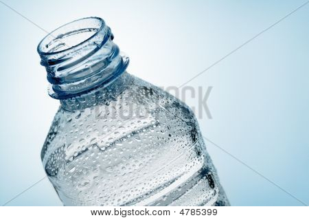Bottle Of Water With Droplet