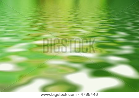 Beautifull Water Surface With Sky Reflection