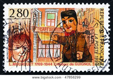 Postage Stamp France 1994 Laurent Mourguet, Creator Of Puppet, G