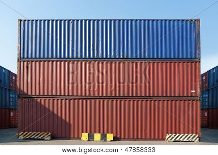 Containers Waiting To Be Loaded