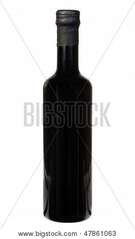 Balsamic Vinegar Bottle Isolated On The White Background